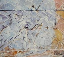 Paudice, Argo - Resti di bassorilievo all'ingresso del teatro