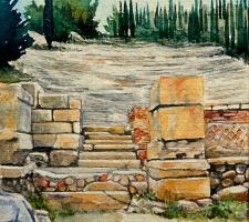 Paudice, Argo – Teatro greco romano, l'ingresso