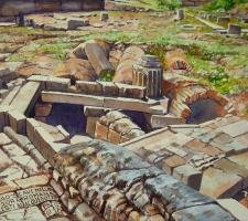 Paudice, Argo – Scavi nell'agorà romana, resti di acquedotto