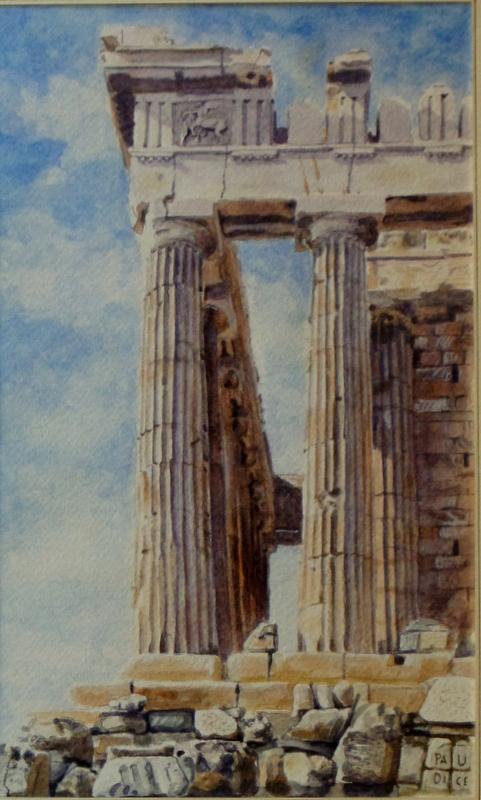 Vincenzo Paudice - Atene, Particolare del Partenone