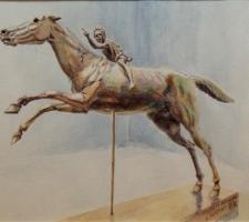 Vincenzo Paudice - Atene, Fantino di Capo Artemisio nel Museo Archeologico