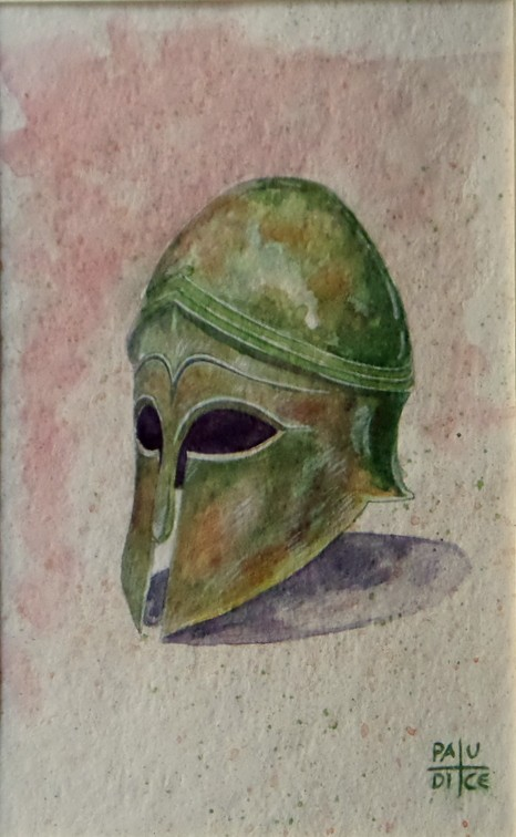 Vincenzo Paudice - Corinto, Elmo Corinzio, 480 a. C.
