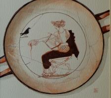 Vincenzo Paudice - Delfi, Museo, Kilyx con Apollo