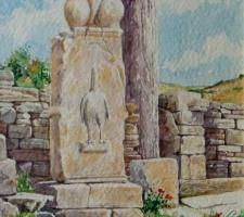 Vincenzo Paudice - Delos, Santuario di Dioniso, vista frontale