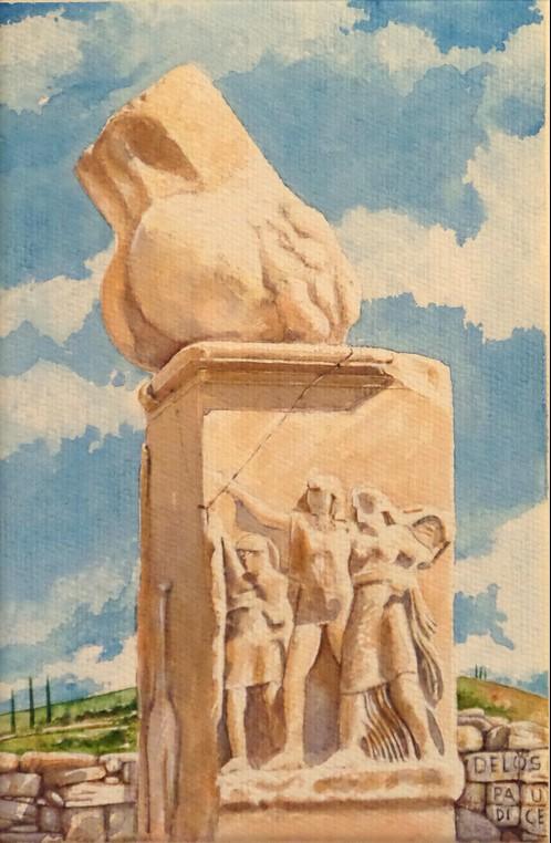 Vincenzo Paudice - Delos, Santurio di Dioniso, vista laterale