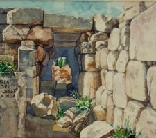 Vincenzo Paudice - Eretria, Resti del fossato ovest a difesa della città