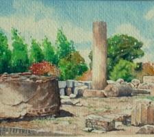 Vincenzo Paudice - Eretria, Resti romani della città di Eretria