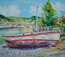 Vincenzo Paudice - Limni, Isola di Eubea: Barca in disarmo