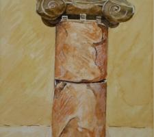 Vincenzo Paudice - Maratona, Museo, Resti di colonna e capitello commemorativo della battaglia di Maratona