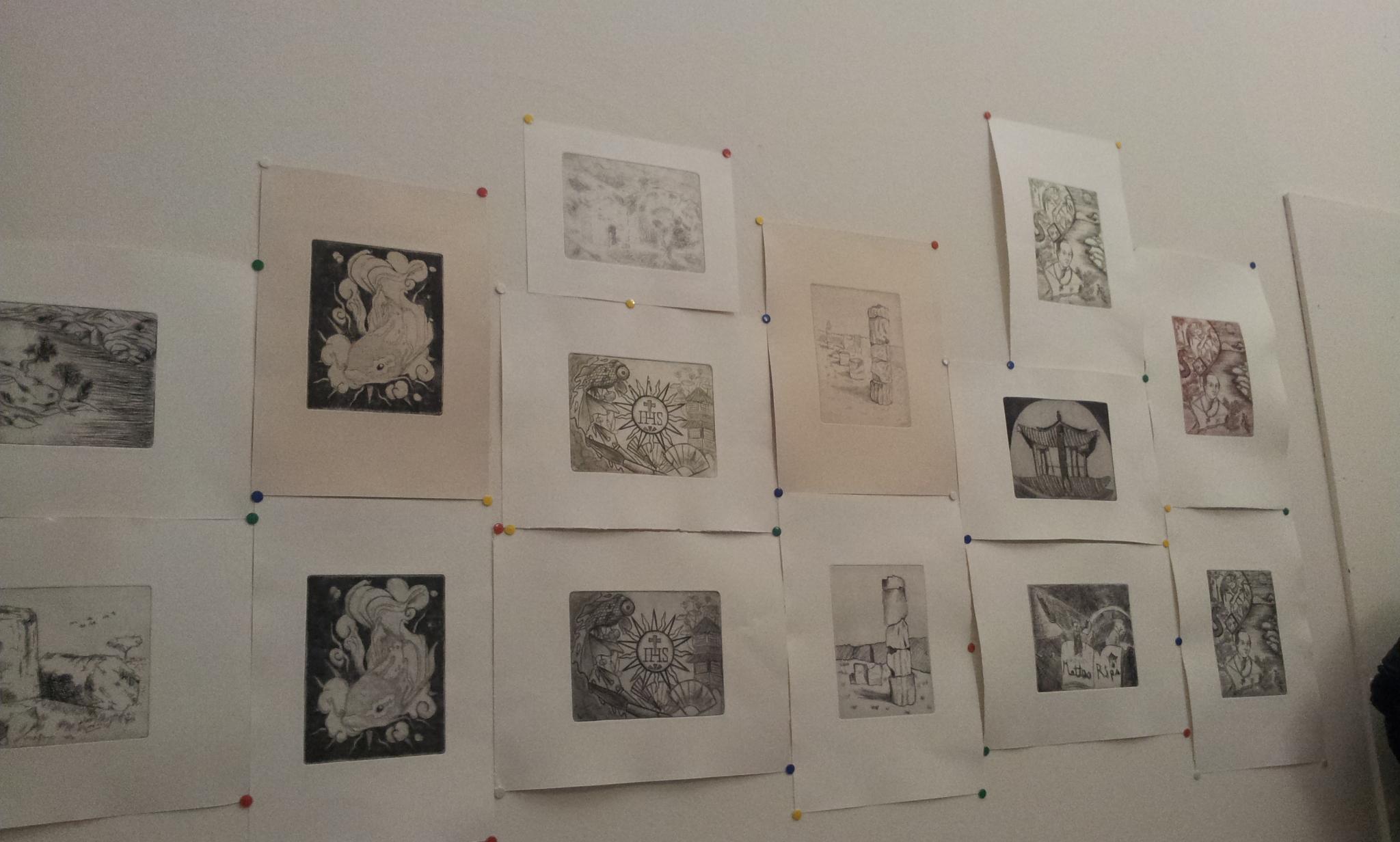 Matteo Ripa - Giornata studio - Incisioni di studenti del liceo artistico