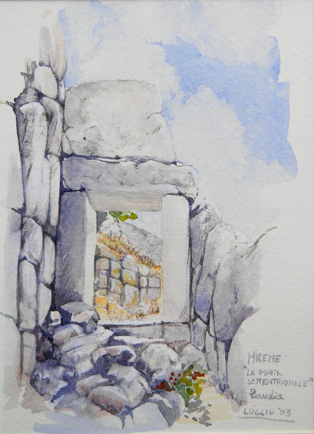 Vincenzo Paudice - Micene, Ingresso settentrionale