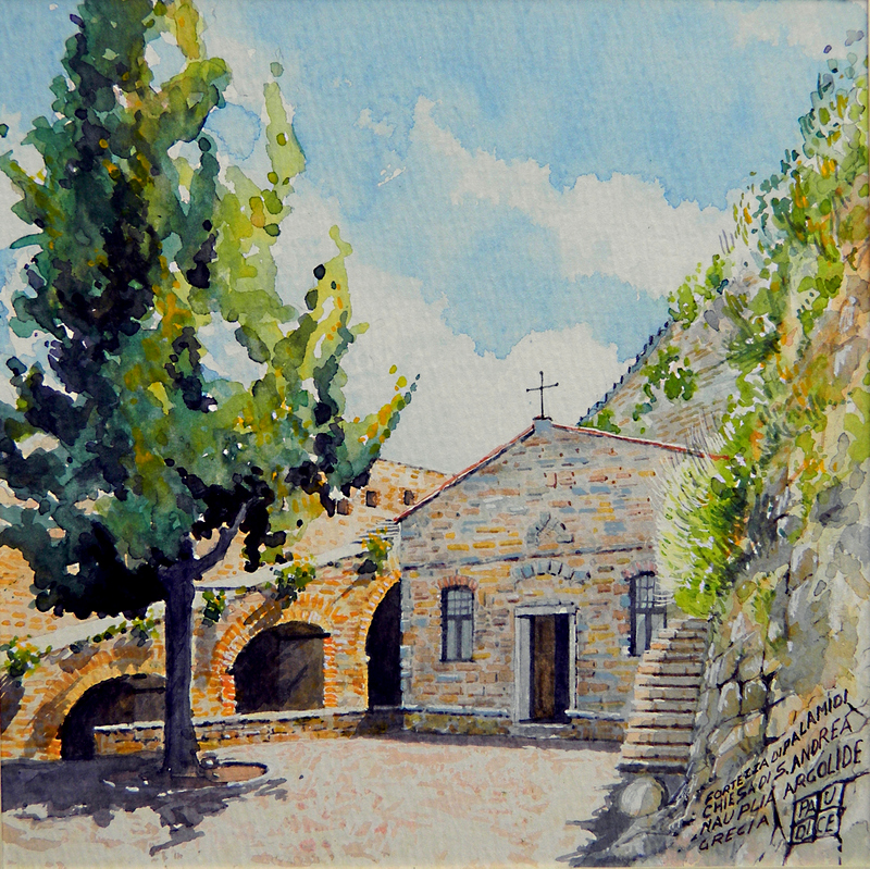 Vincenzo Paudice - Nauplia, Chiesa di S. Andrea all'interno della fortezza Palamidi