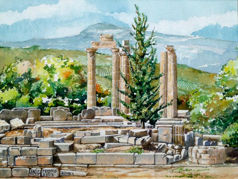 Vincenzo Paudice - Nemea, Tempio di Zeus Nemeo