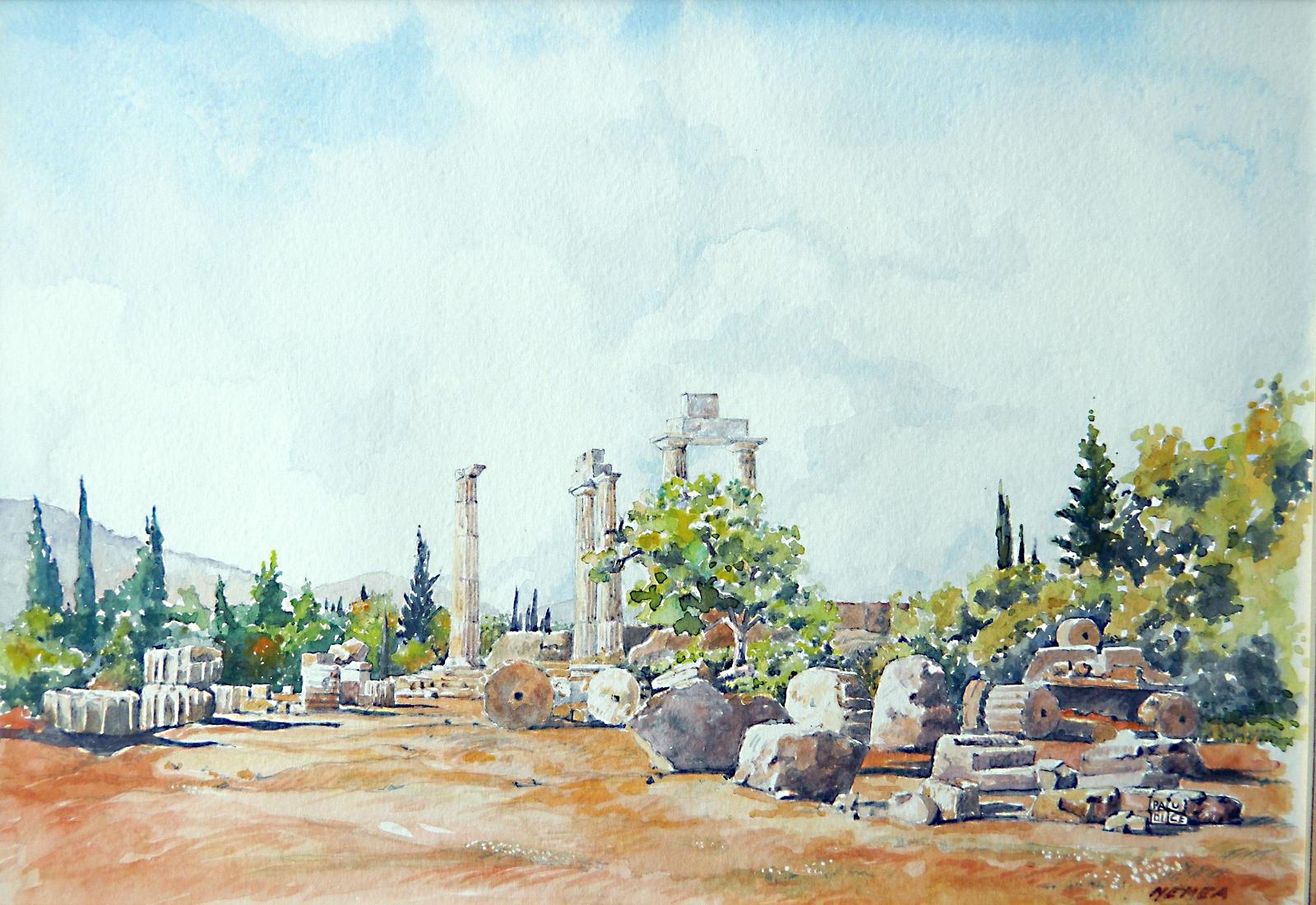 Vincenzo Paudice - Nemea, Argolide, Santuario di Zeus Nemeo