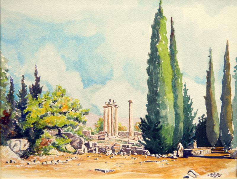 Vincenzo Paudice - Nemea, Tempio di Zeus