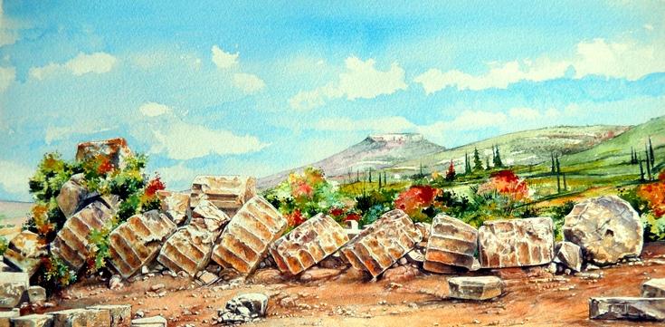 Nemea - Colonna dorica del tempio di Zeus
