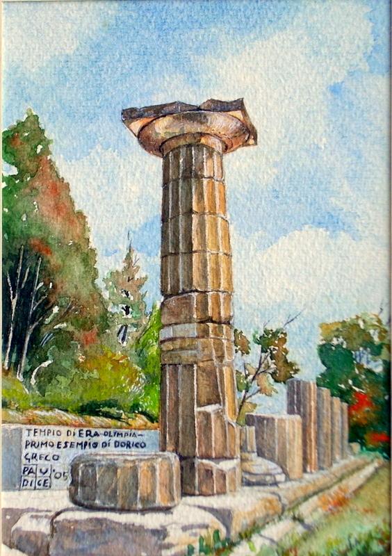 Vincenzo Paudice - Olimpia, Tempio di Hera