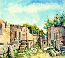 Vincenzo Paudice - Olimpia, Resti dello studio di Fidia trasformato in chiesa cristiana