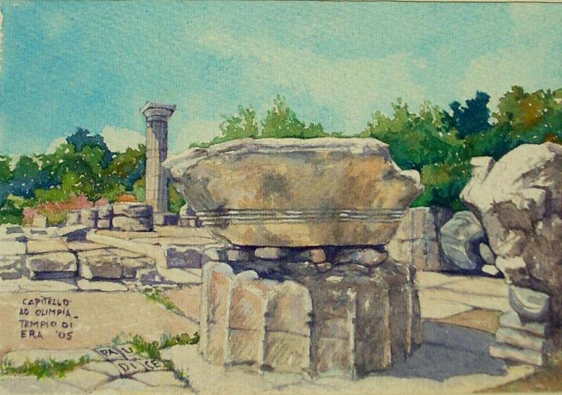 Vincenzo Paudice - Olimpia, Capitello dorico, particolare