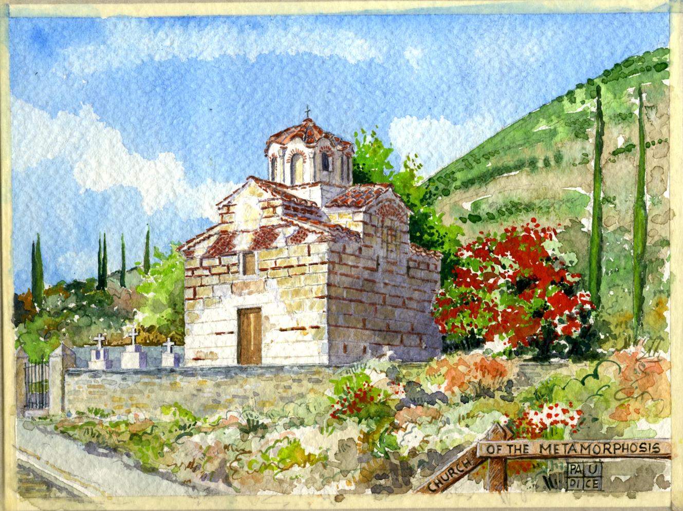 Vincenzo Paudice - Peloponneso, Cimitero ortodosso con chiesa