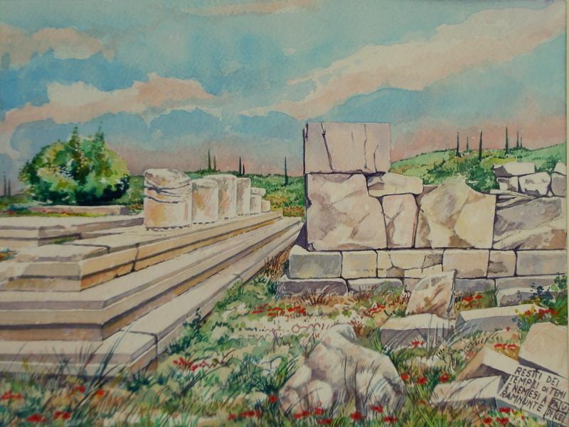 Vincenzo Paudice - Ramnous, Resti dei templi di Temi e Nemesis 2