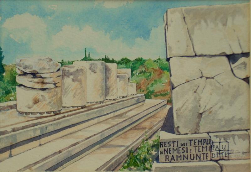 Vincenzo Paudice - Ramnous, Resti dei templi di Temi e Nemesis 3