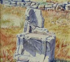 Vincenzo Paudice - Ramnous, Particolare sedile in pietra