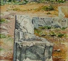 Vincenzo Paudice - Ramnous, Scranno in pietra