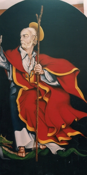 Vincenzo Paudice, San Berniero - Pala d'altare Chiesa del Sacro Cuore, Eboli