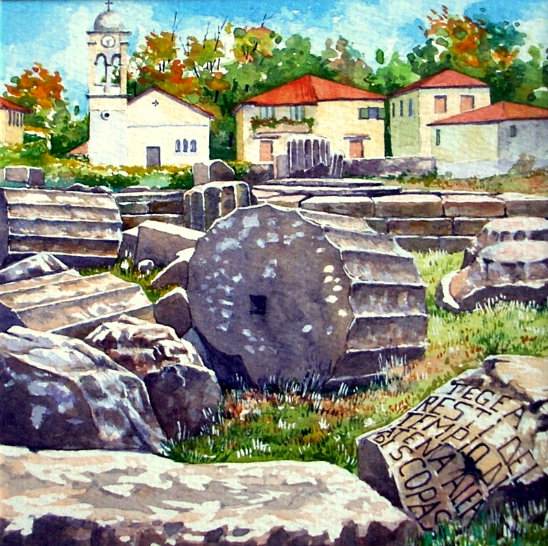 Vincenzo Paudice - Tegea, Tempio di Atena Alea edificato su progetto di Skopas
