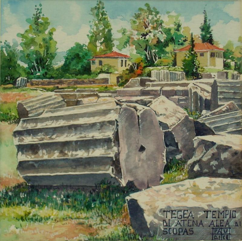 Vincenzo Paudice - Tegea, Tempio di Atena Alea edificato su progetto di Skopas 2