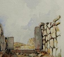 Vincenzo Paudice - Tirinto, Resti della seconda porta d'accesso alla città A