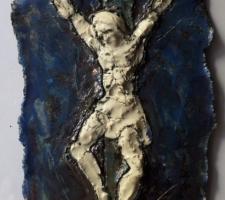 Vincenzo Paudice - Raku, crocifisso