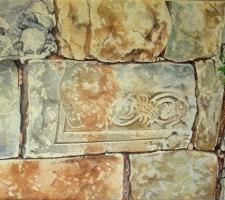 Vincenzo Paudice - Fregio romano sulle mura di Durostorum, Silistra