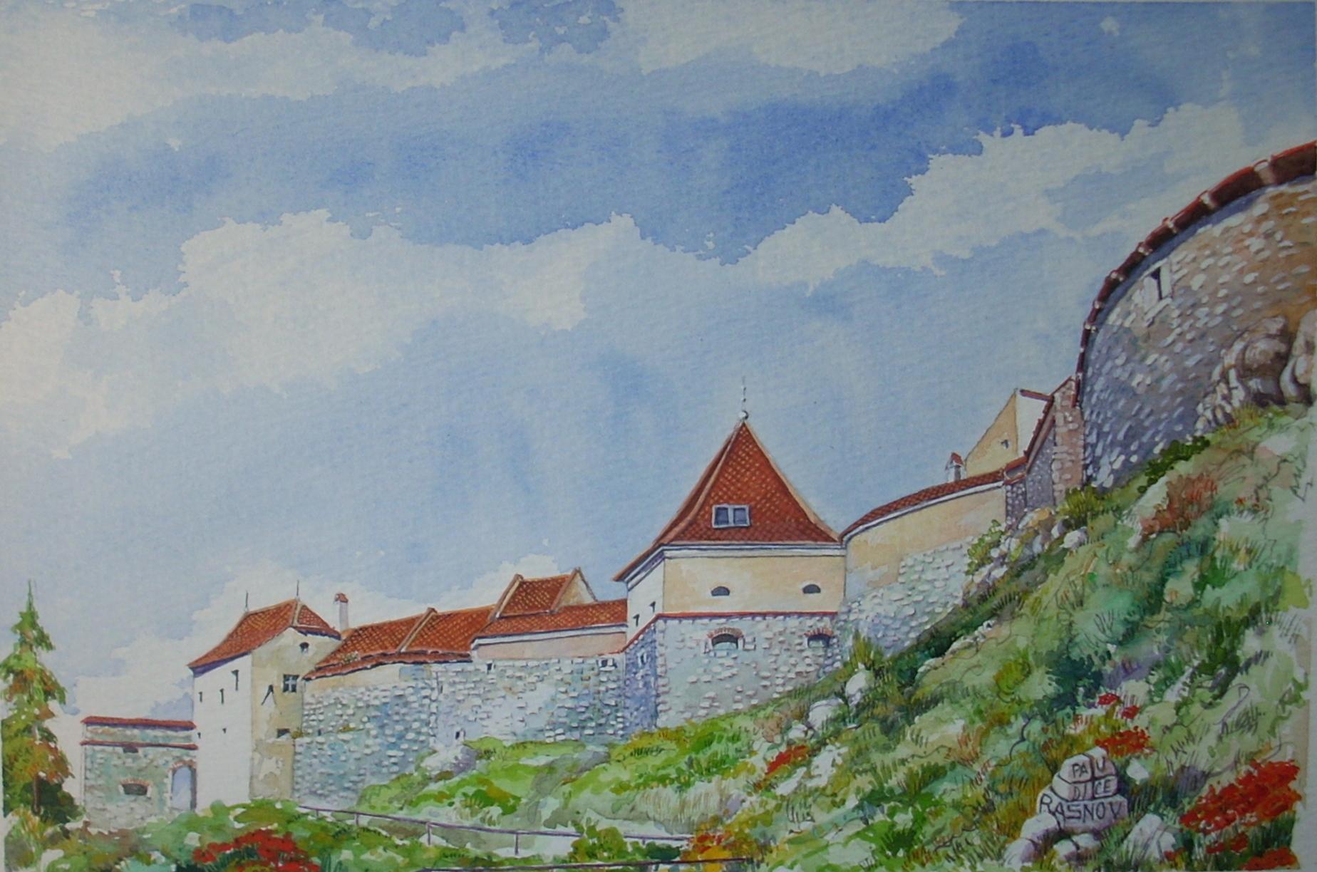 Vincenzo Paudice - Transilvania, Villaggio fortificato di Râșnov