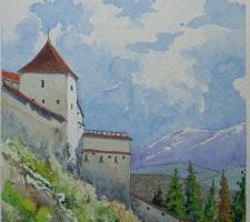 Vincenzo Paudice - Transilvania, Castello di Râșnov, Ingresso alle mura esterne
