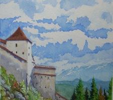 Vincenzo Paudice - Transilvania, Castello di Râșnov, Ingresso alle mura esterne 2