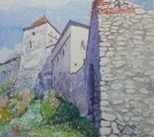 Vincenzo Paudice - Transilvania, Castello di Rasnov, Ingresso alle mura esterne 3