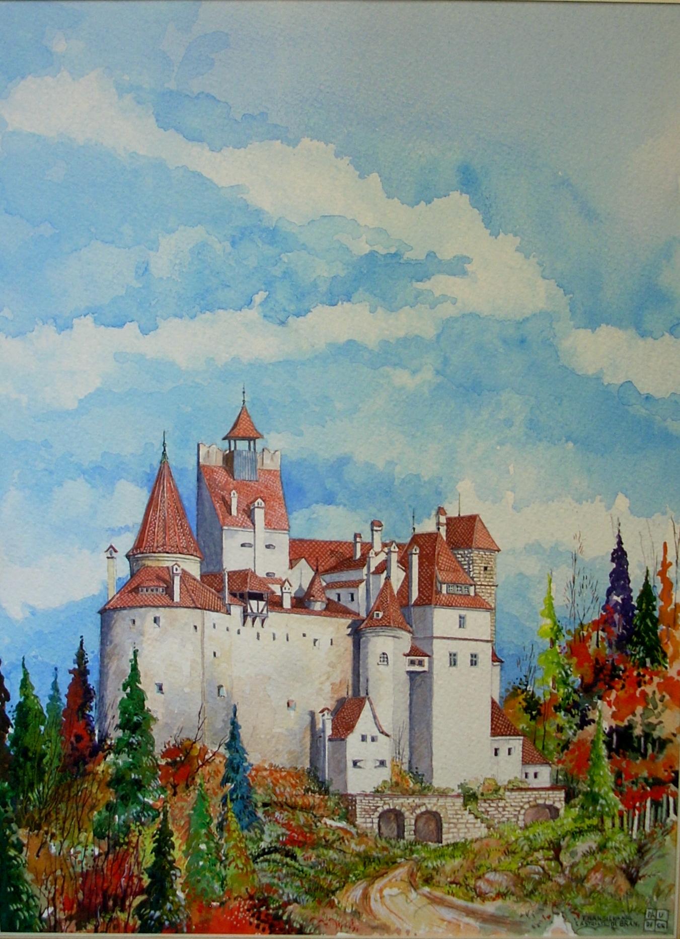 Vincenzo Paudice - Transilvania, Castello di Bran, Veduta dalla porta della dogana