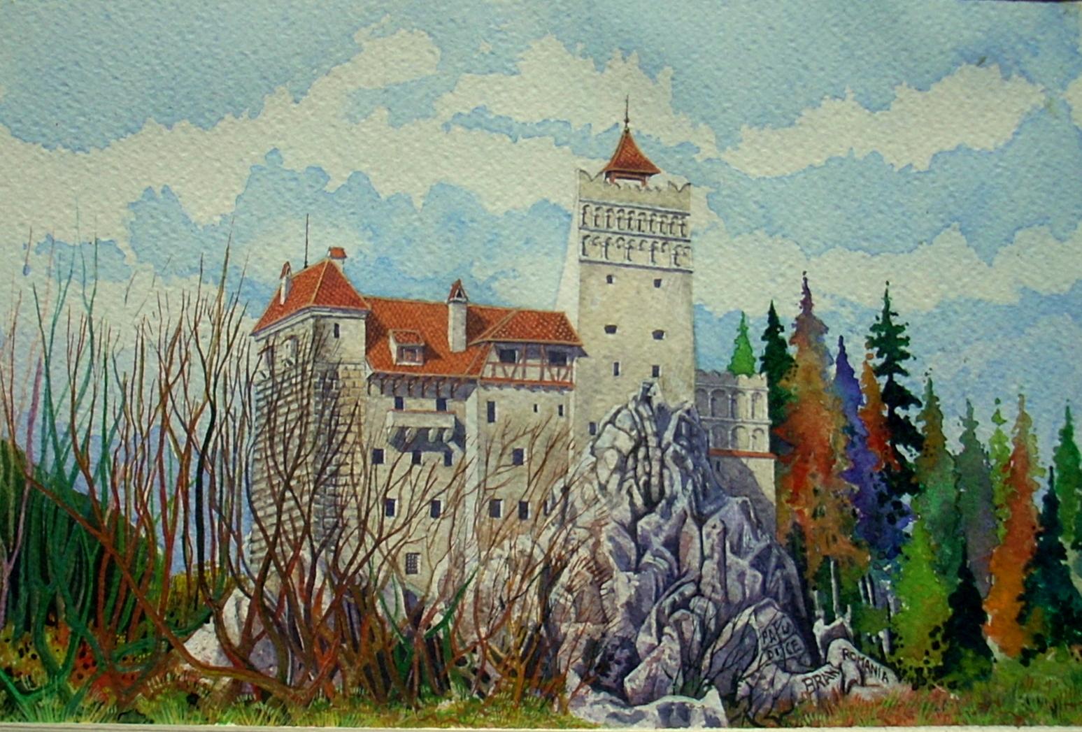 Vincenzo Paudice - Transilvania, Castello di Bran, Veduta occidentale