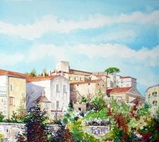 Vincenzo Paudice - Eboli, Cortina del centro antico vista da via S. Antonio