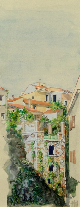 Vincenzo Paudice - Eboli, La Torretta vista dal Borgo