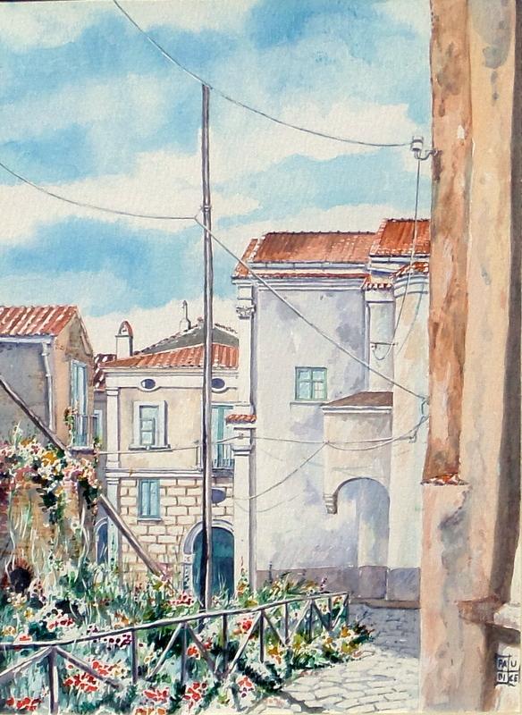 Vincenzo Paudice - Eboli, Chiesa delle Benedettine e casa natale di Matteo Ripa