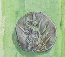 Vincenzo Paudice - Statere coniato a Gortina raffigurante Europa con aquila in grembo seduta su un platano 330 - 270 a.C.