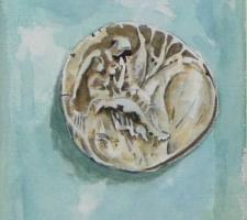 Vincenzo Paudice - Statere coniato a Gortina raffigurante Europa seduta su un platano 330 - 270 a.C.