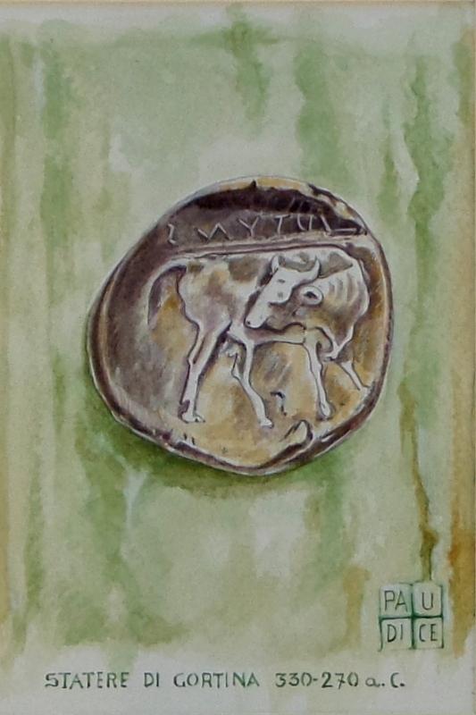 Vincenzo Paudice - Statere coniato a Gortina con toro 330 - 270 a.C.