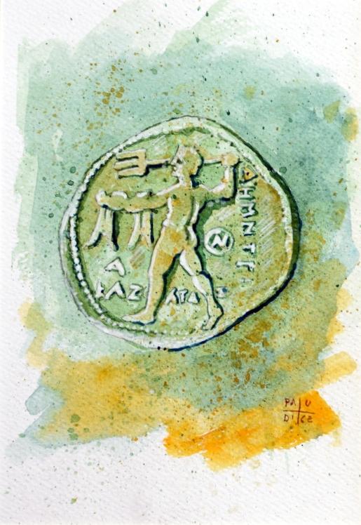Vincenzo Paudice - Statere d'argento coniato nel III sec. a.C.