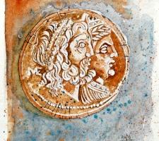 Vincenzo Paudice - Diadramma epirota del III sec. a.C.