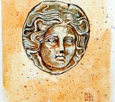 Vincenzo Paudice - Conio emesso nel IV sec. a.C. a Rodi con l'effige di Apollo