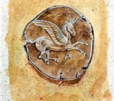 Vincenzo Paudice - Statere corinzio con l'mmagine di Pegaso